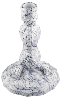 """Staatliche Porzellan-Manufaktur MEISSEN Leuchter, """"new splendour"""", lineare Blattformen, h 17 cm"""